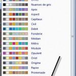 PowerPoint Choix de couleurs par thème