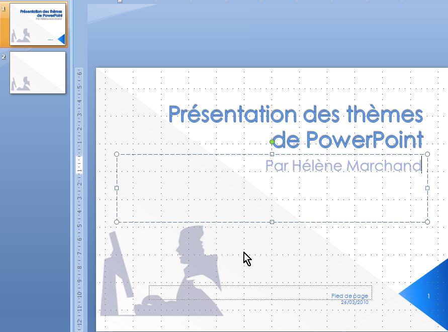 powerpoint 2007 faites votre powerpoint l image de votre entreprise h l ne marchand. Black Bedroom Furniture Sets. Home Design Ideas