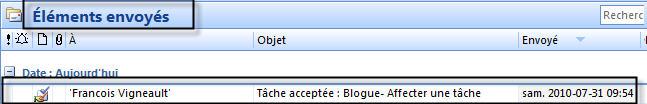 acceptation de la tâche_courriel envoyé