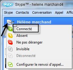Skype :se connecter