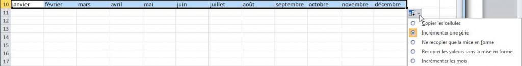 liste choix mois