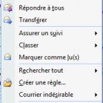 Déplacer un courriel dans un autre dossier comme Tâches